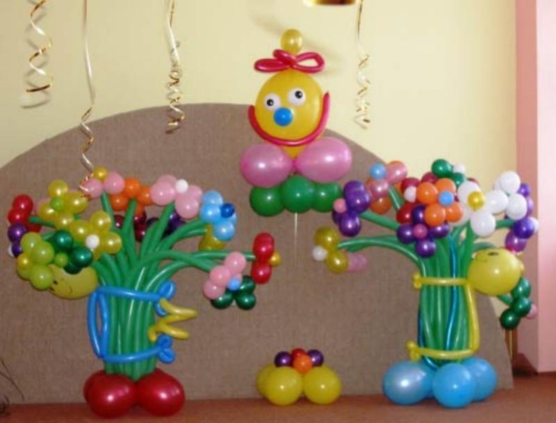 Оформление шарами детского дня рождения своими руками